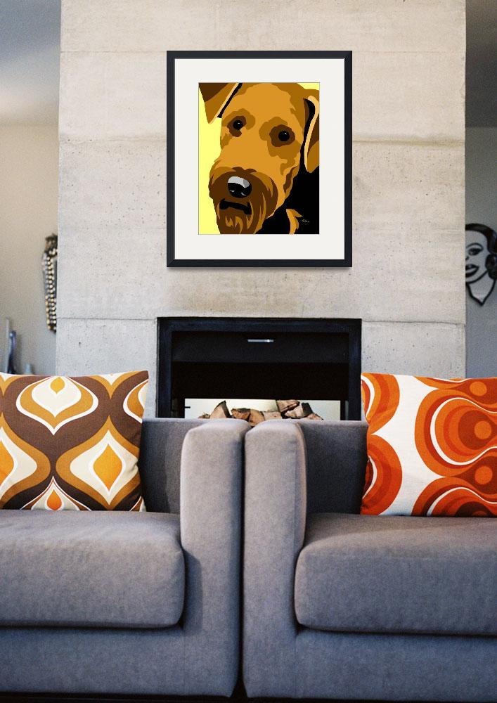 """Airedale Terrier&quot  (2012) by waterart"