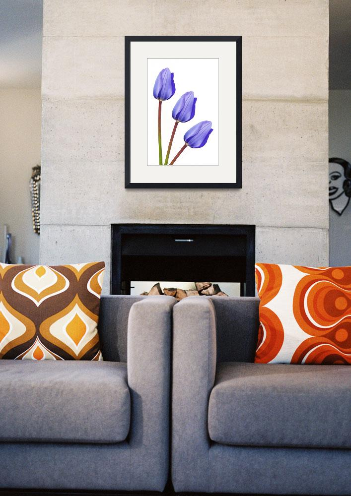 """Purple Tulip Trio&quot  by NatalieKinnear"