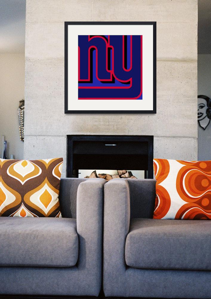 """New York Giants Football&quot  (2013) by RubinoFineArt"
