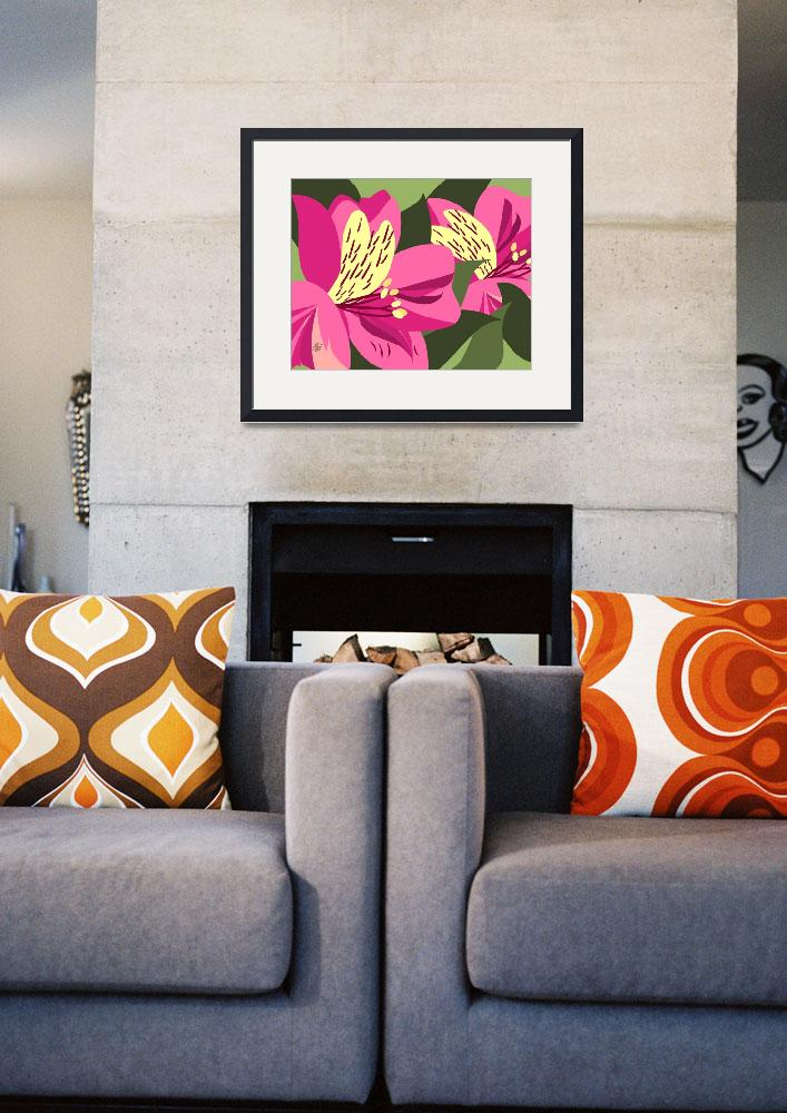 """Contemporary Alstroemeria Art&quot  by waterart"