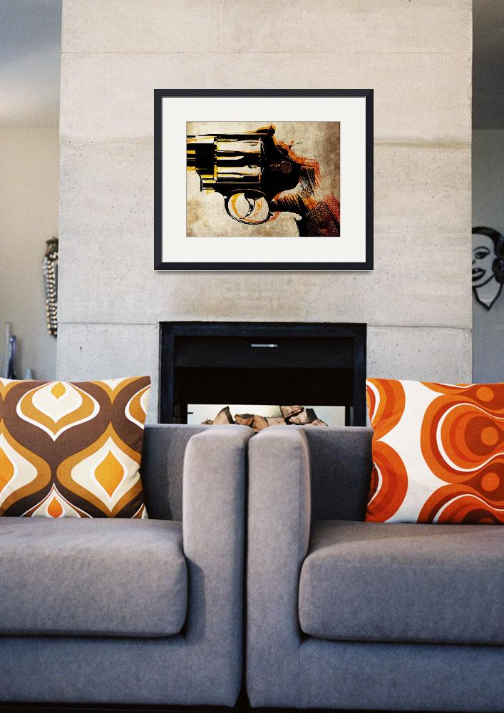 """Revolver Trigger&quot  (2010) by ModernArtPrints"