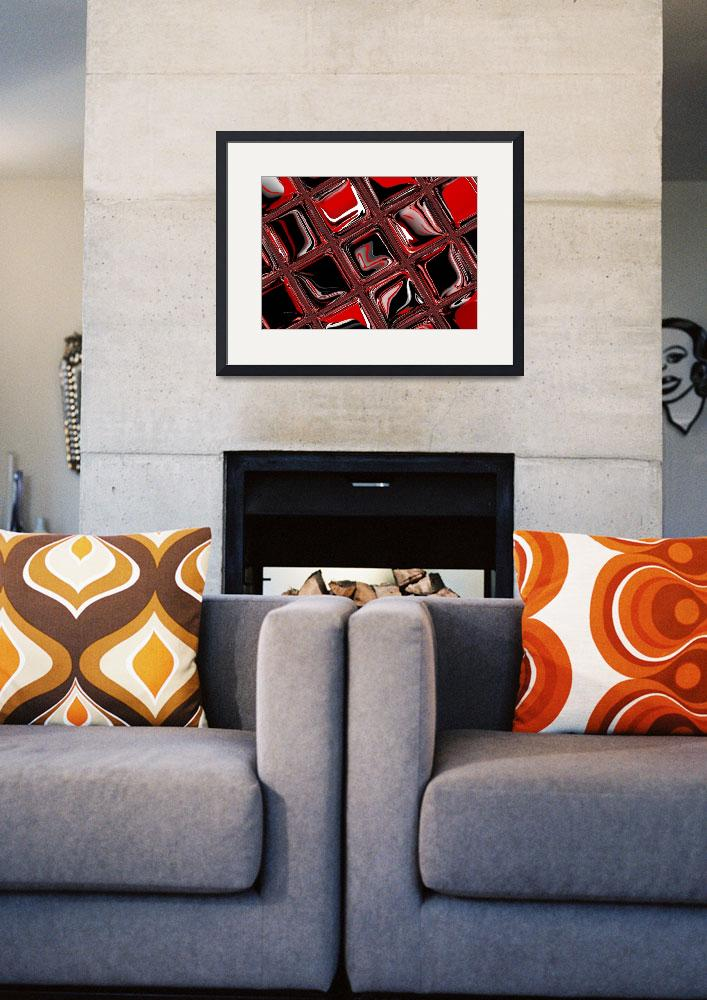 """4-red-black-modern&quot  (2008) by shanmaree"