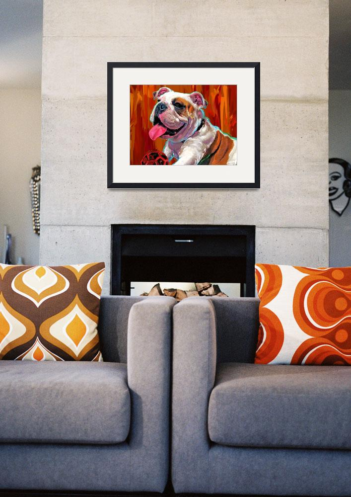 """Capone English Bulldog&quot  by artpaw"
