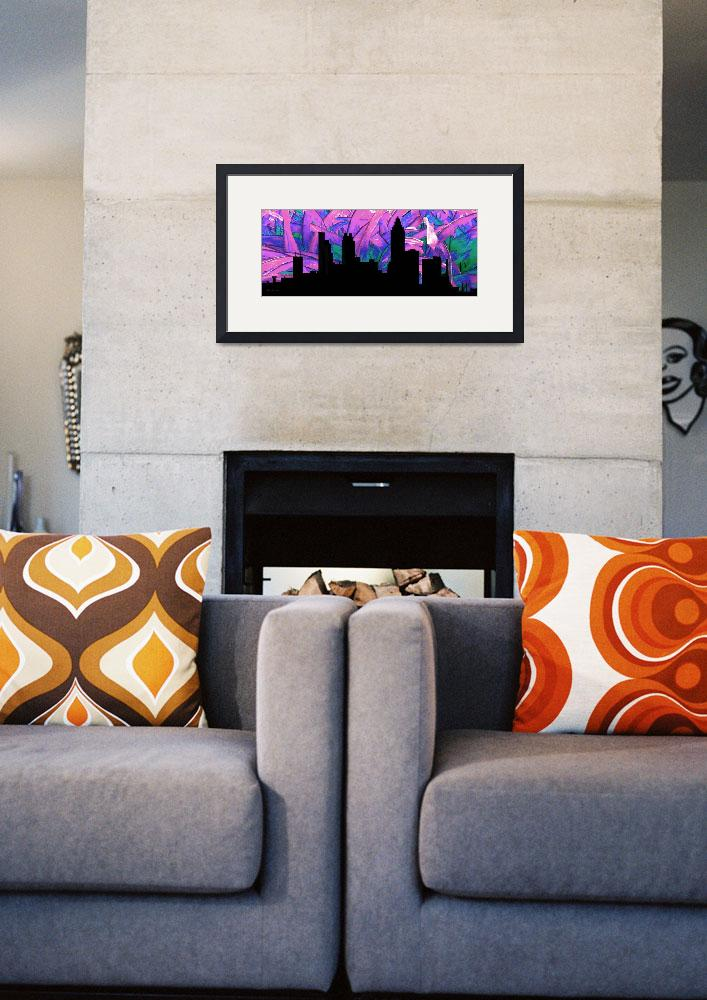 """Decorative Skyline Abstract  Atlanta T1115H&quot  (2015) by MasArtStudio"