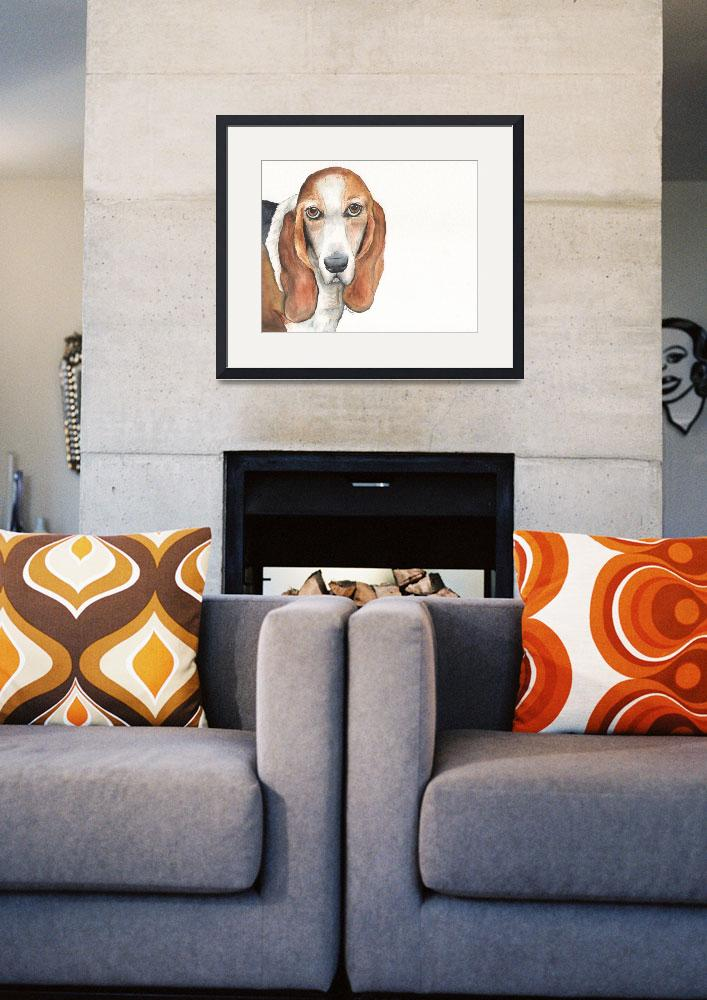 """Abby the Vocal Vaulting Basset&quot  (2014) by Designomel"