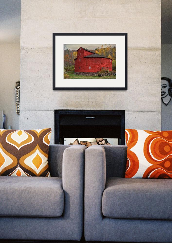 """Red Round Barn&quot  (2014) by DBenoit"