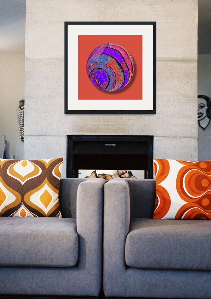 """Tree Ring Abstract Orb&quot  (2013) by RubinoFineArt"