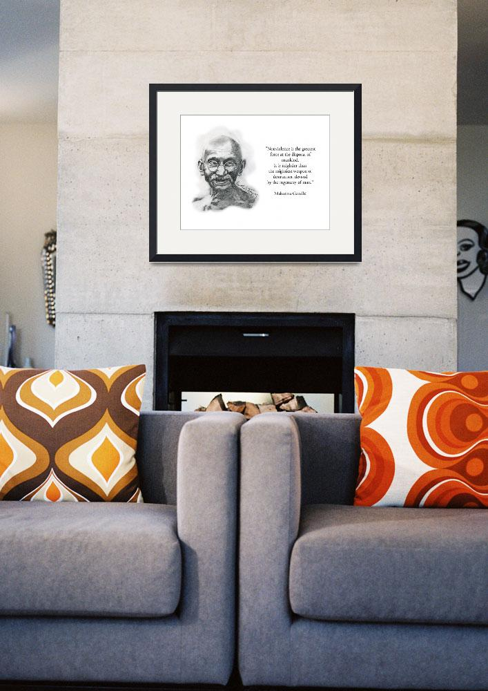 """Inspirational Portrait of Mahatma Gandhi&quot  by CreativeArtisticNuance"