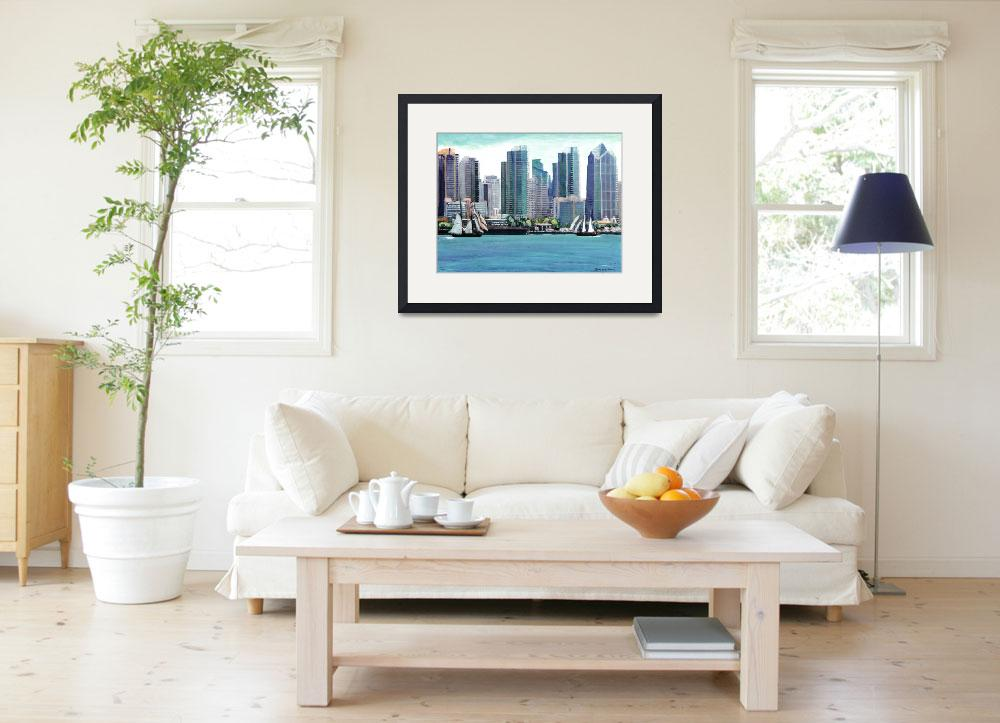 """San Diego Bay Front&quot  (2011) by BeaconArtWorksCorporation"