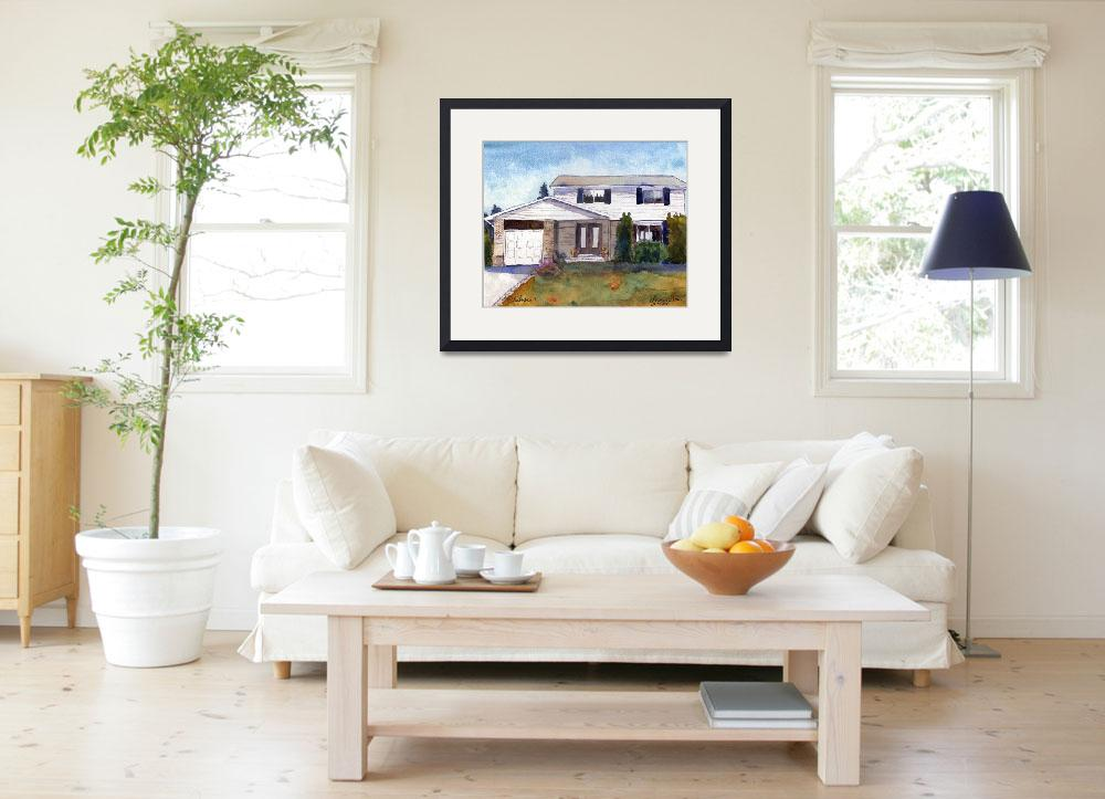 """Painting from Photo, House Portrait 22 Martingrove&quot  by schulmanart"