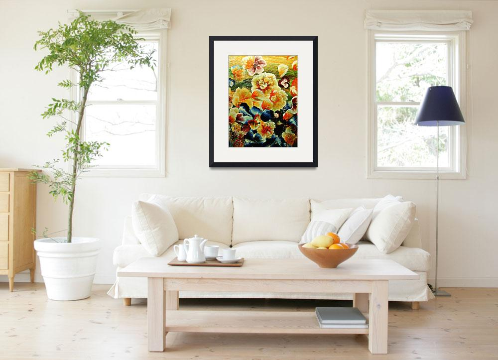 """Orange Flower Patch&quot  (2008) by StudioArtsGroup"