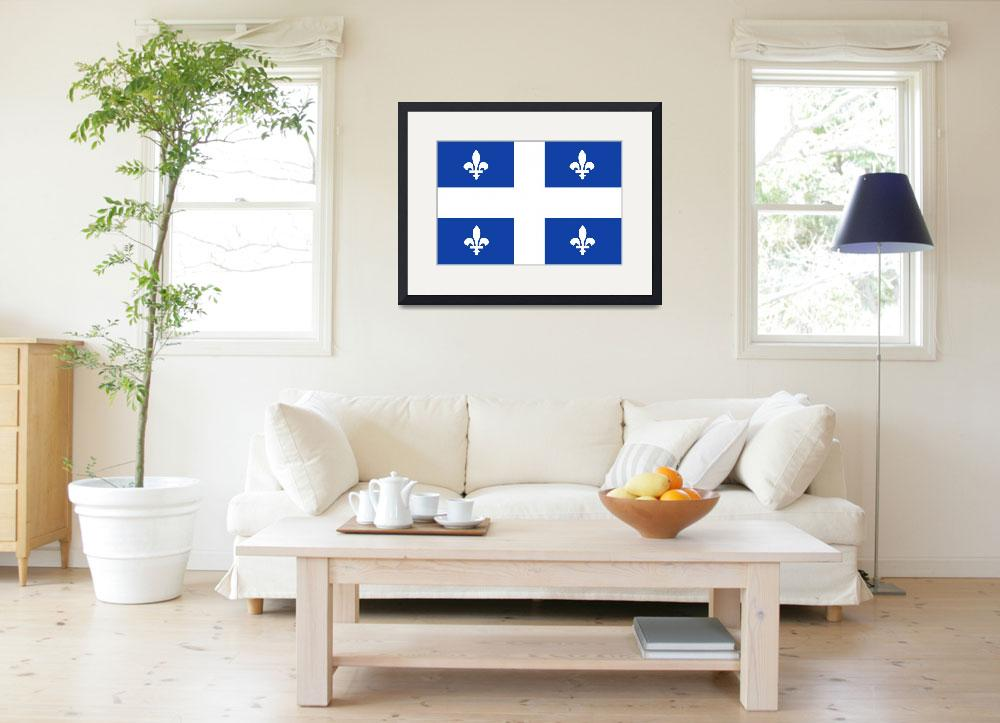 """quebec flag&quot  by tony4urban"