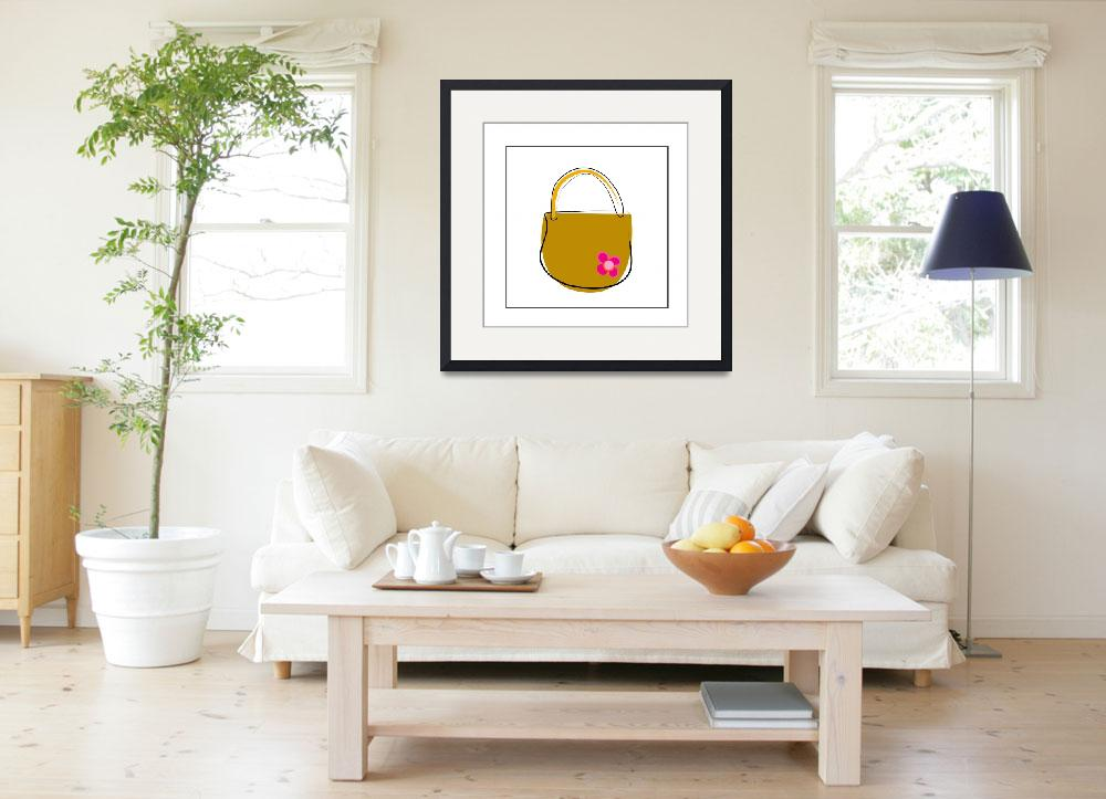 """Brown Purse&quot  by artlicensing"