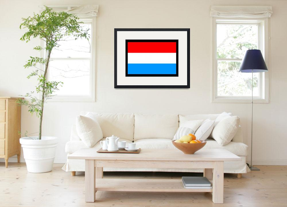 """Luxembourg Flag&quot  by KWGart"