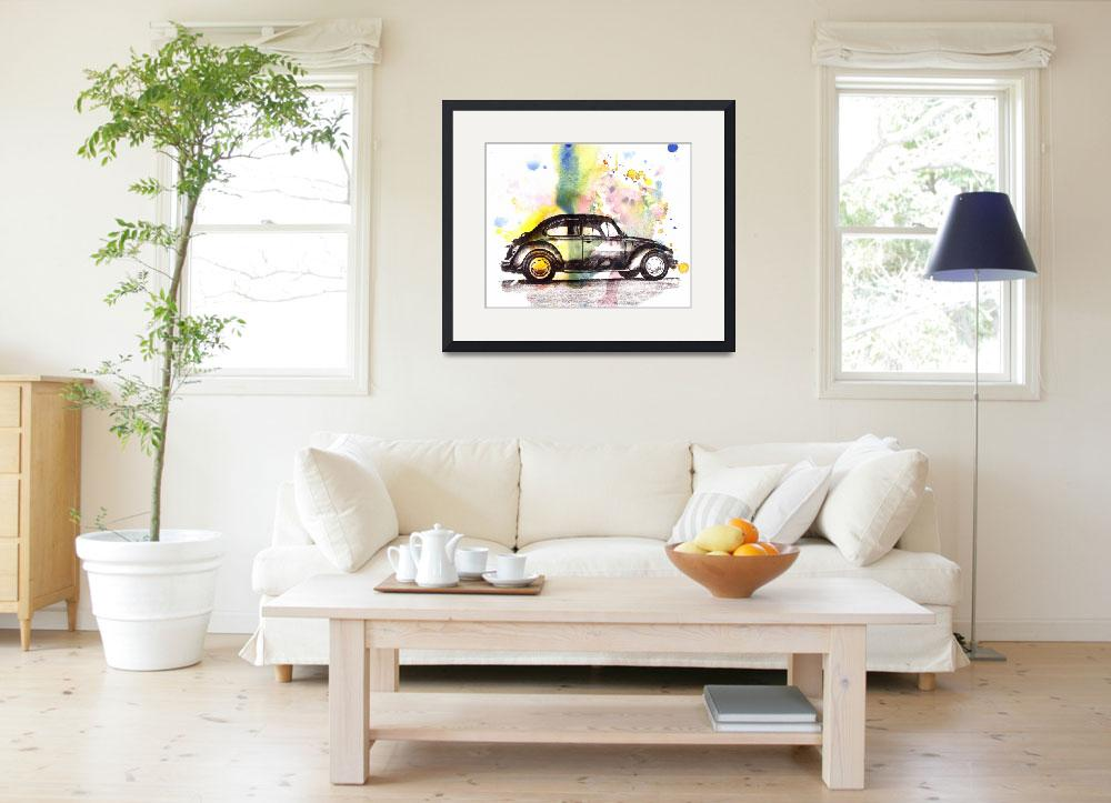 """VW Beetle Car Automobile Art Painting&quot  (2012) by idillard"
