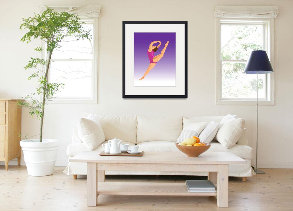 """Gymnast Jumping Split&quot  (2013) by patrimonio"