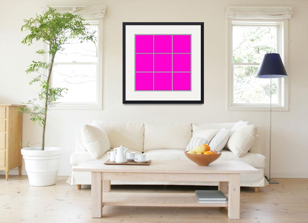 """Pink Window 185 Canvas Contemporary Modern&quot  (2010) by Ricardos"
