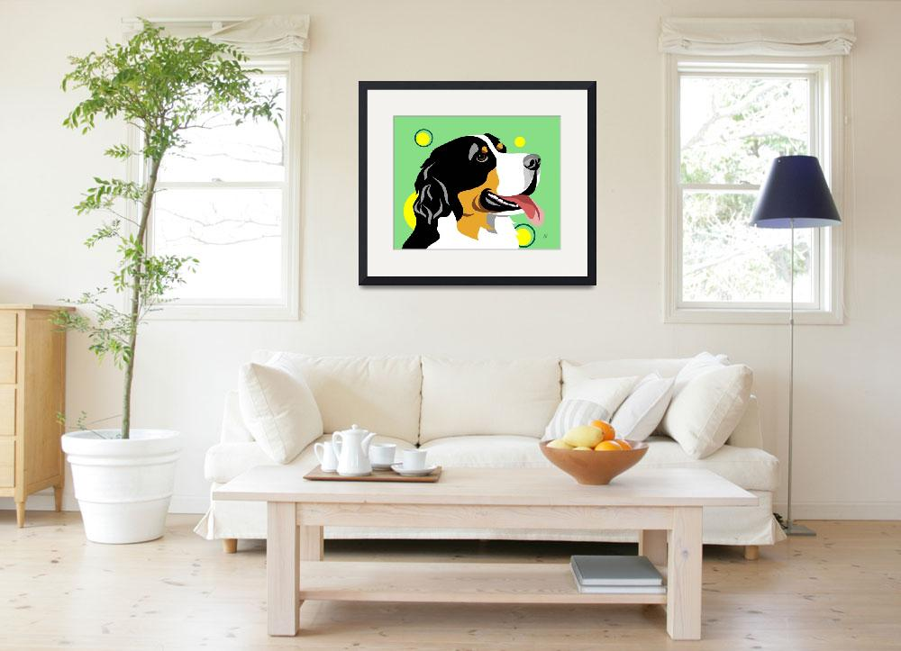 """Bernese Mountain Dog&quot  by waterart"