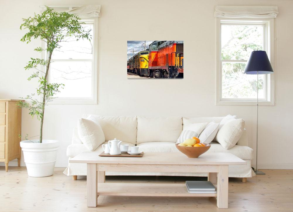 """Vintage Locomotives&quot  (2014) by BrianKerls"