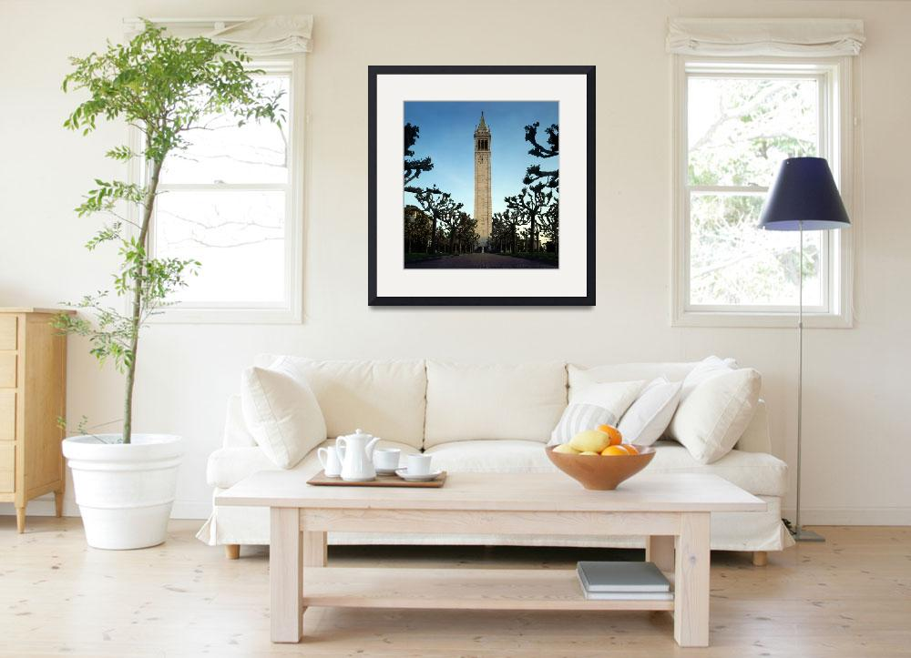"""Berkeley Camponile - Sather Tower&quot  by worldwidearchive"
