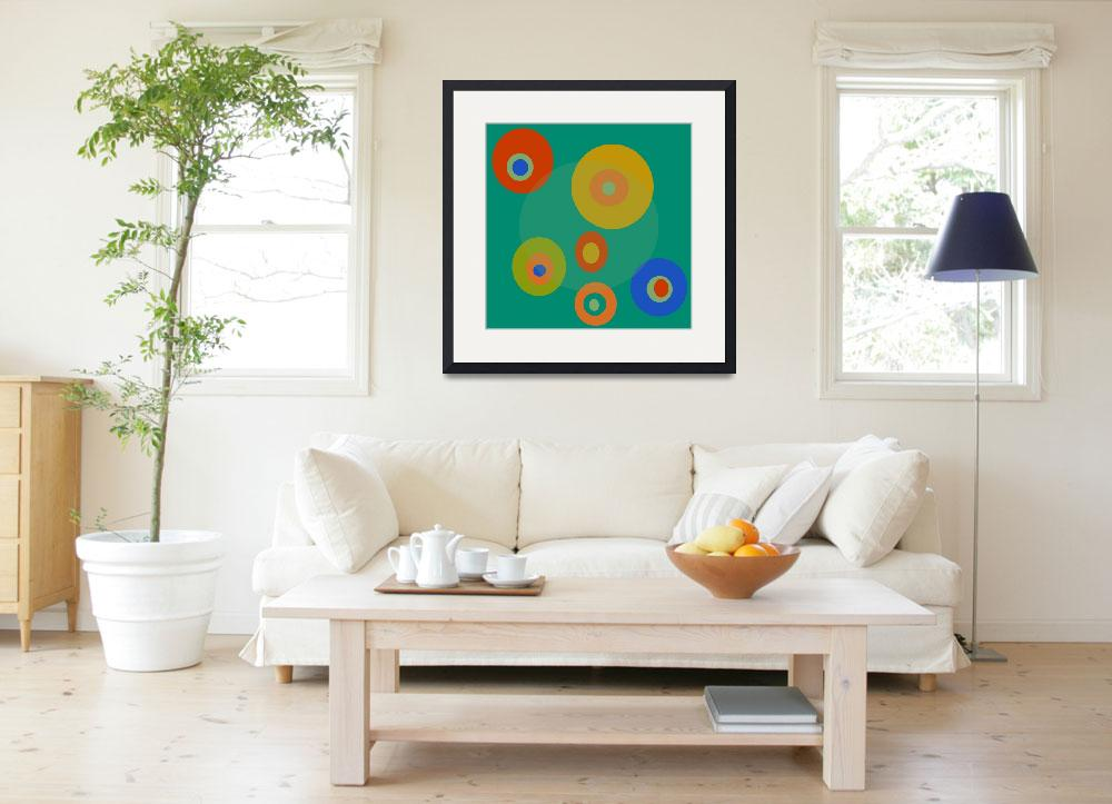 """Colorful Circles&quot  (2014) by bonniebruno"