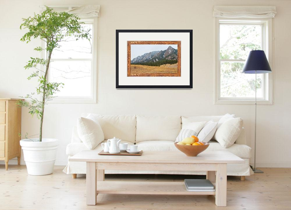 """Flatiron Barn Wood Picture Window Frame View&quot  by lightningman"