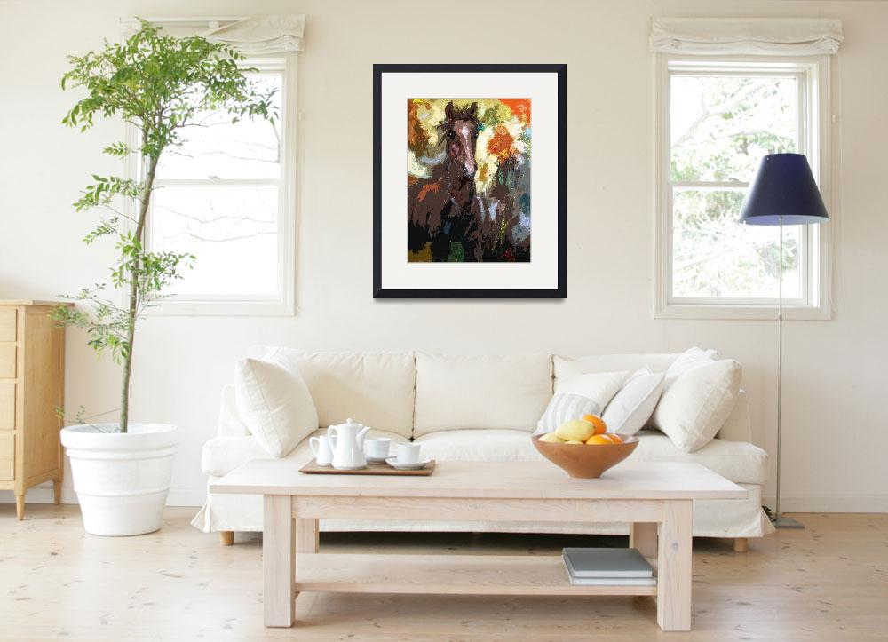"""Foal Modern Abstract Horse Art by Ginette&quot  (2012) by GinetteCallaway"