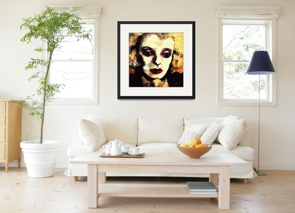"""Bette Davis Original Art by Ginette&quot  (2012) by GinetteCallaway"