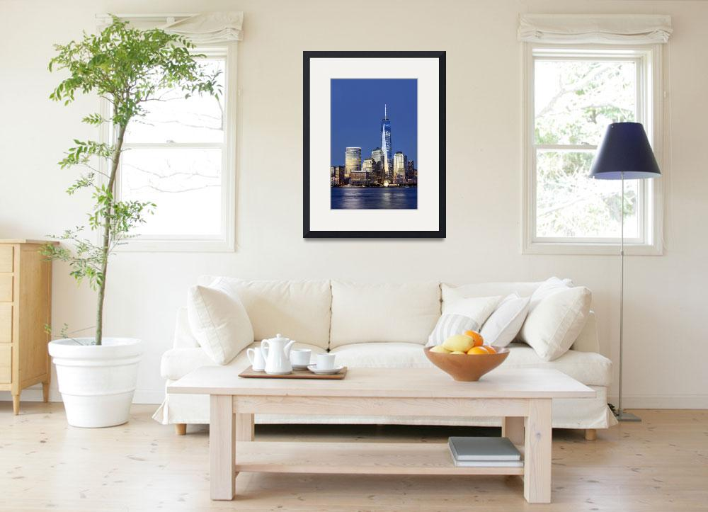 """manhattan skyline and Freedom Tower&quot  (2014) by emporoslight"
