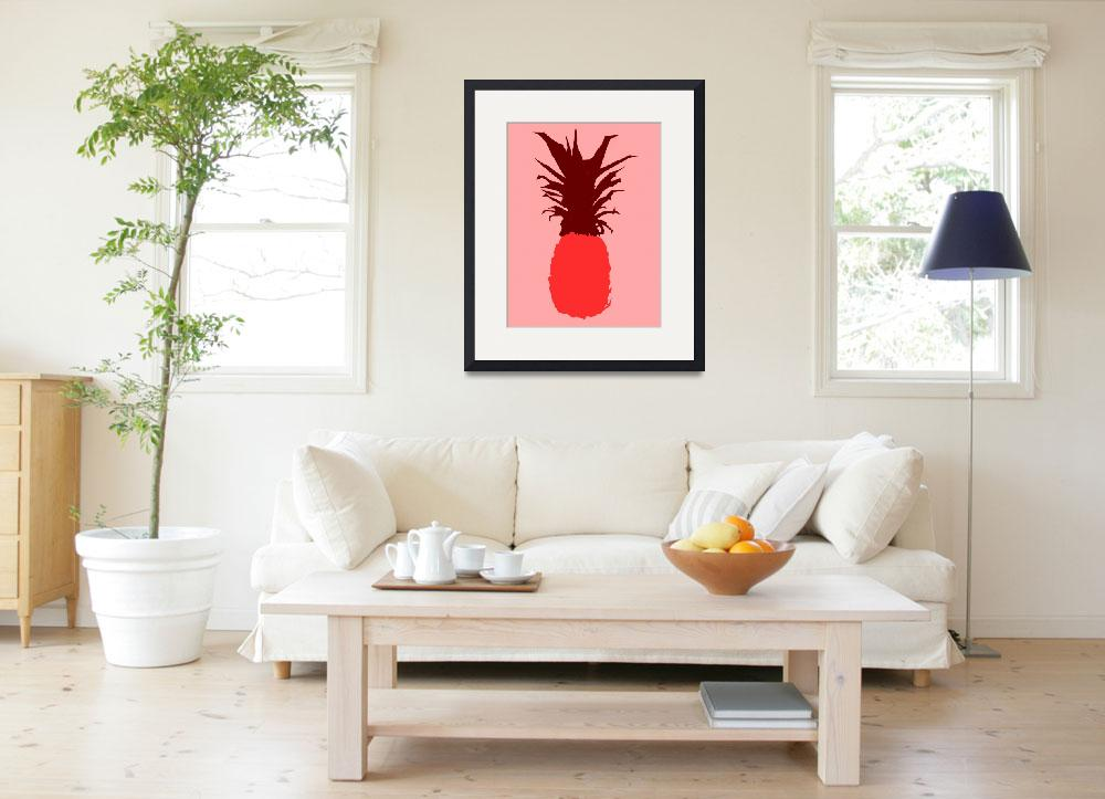 """Pineapple red pink (c)&quot  (2014) by edmarion"