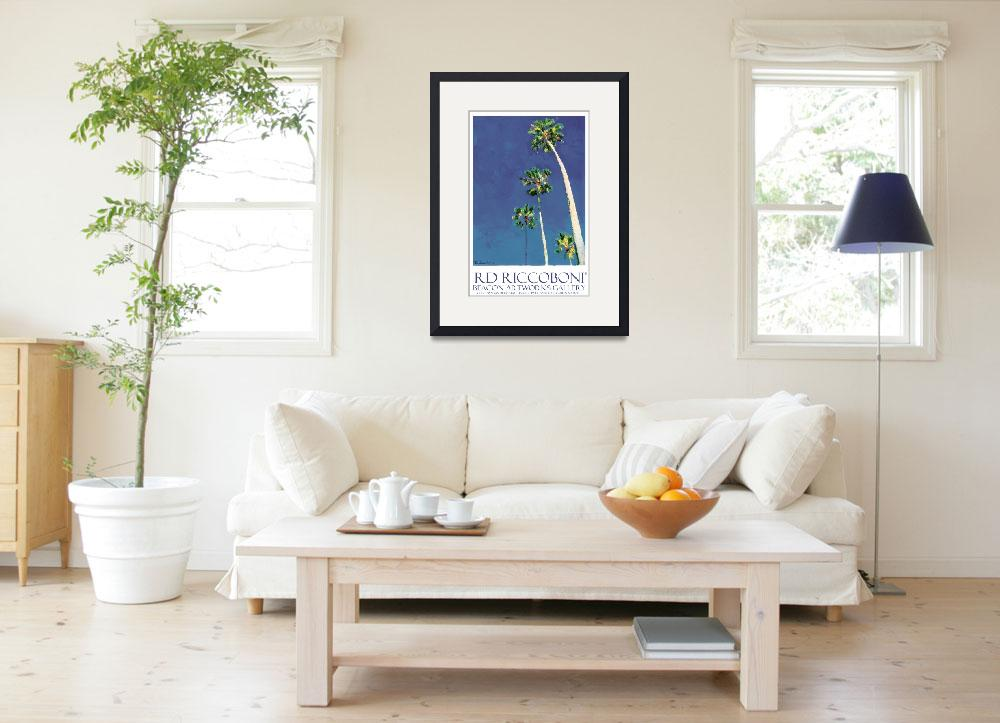 """Beacon Artworks Palm Tree Poster&quot  (2011) by RDRiccoboni"