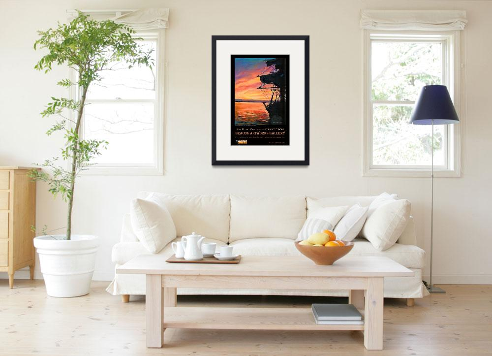 """San Diego Harbor Sunset by RD Riccoboni™ Poster&quot  (2009) by RDRiccoboni"