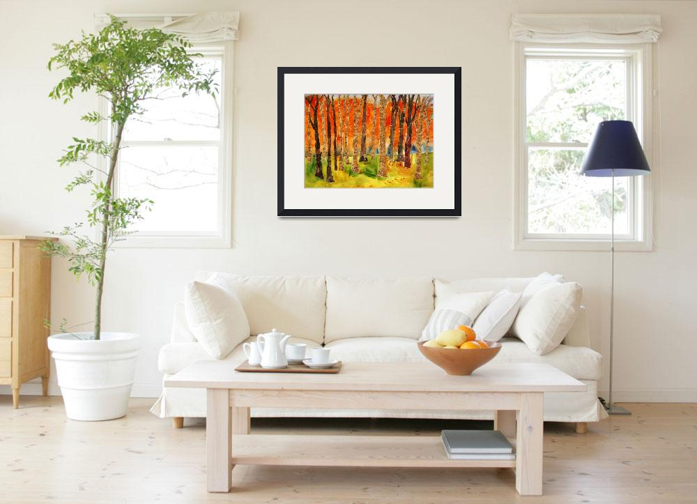 """""Sonatina Forest"" Abstract Birch TREE Wall art, mi&quot  (2011) by schulmanart"