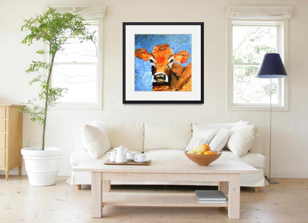"""Holy Cow&quot  (2008) by LeslieSaetaFineArt"