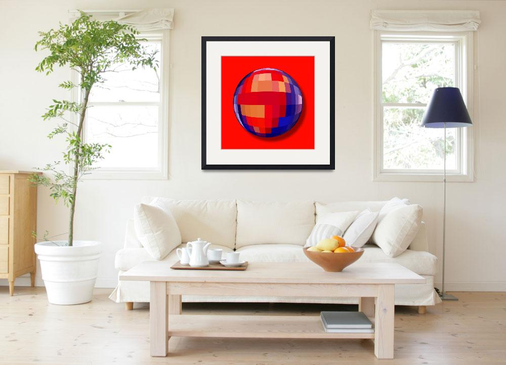 """Superman Orb&quot  (2013) by RubinoFineArt"