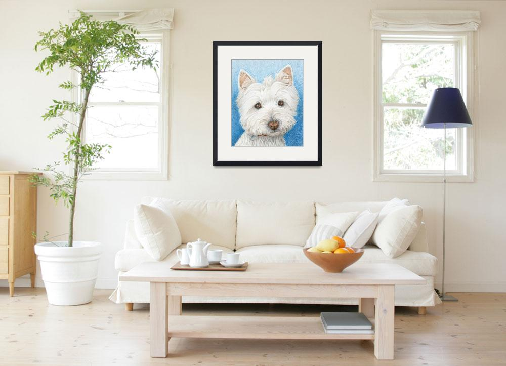 """Westie Dog&quot  (2008) by carolekeen"