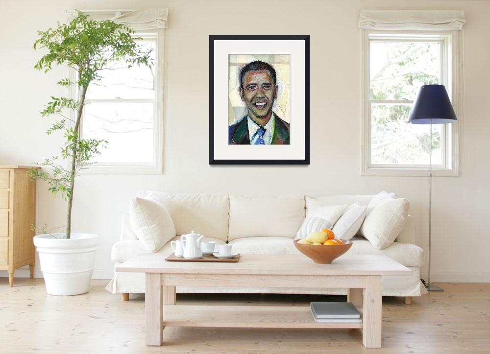 """Elect Barack Obama in 2008! Oil Pastel&quot  (2008) by noelhefele"