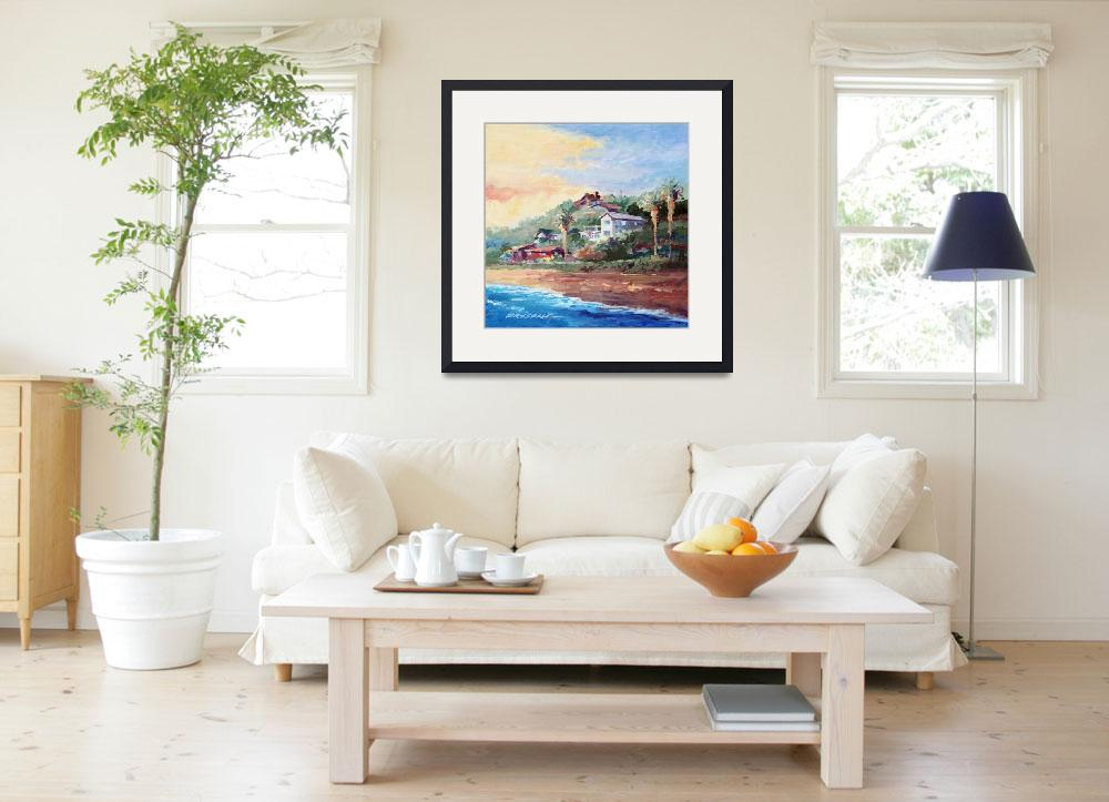 """Cottages at Crystal Cove&quot  by WillyDaleArt"