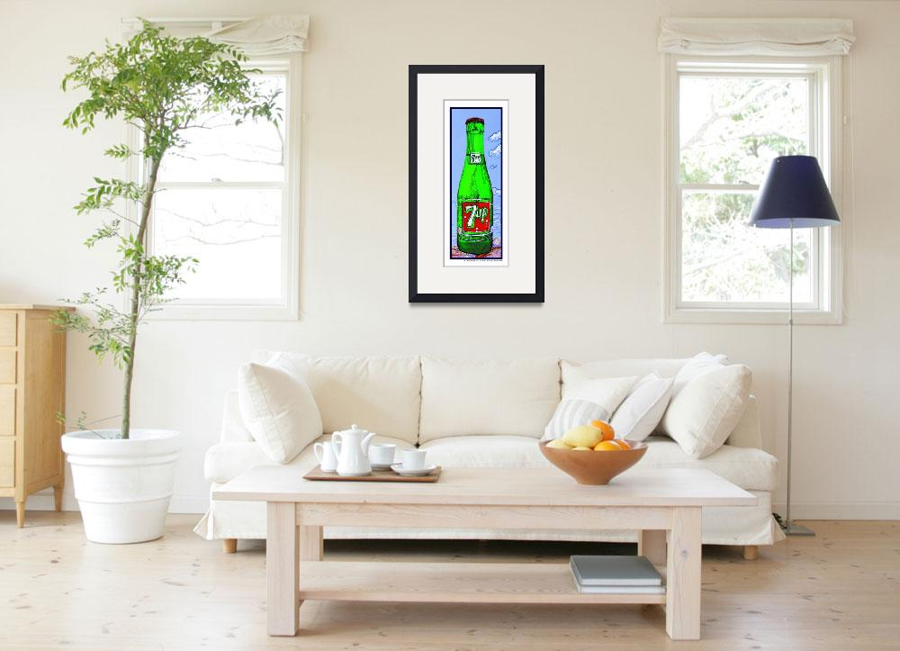 """7 Up Bottle in the Sky, White Border&quot  (2009) by Automotography"