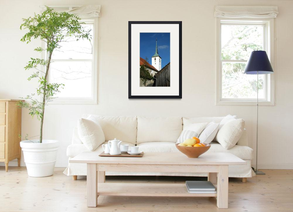 """Vilseck Catholic Church Steeple&quot  by Artsart"