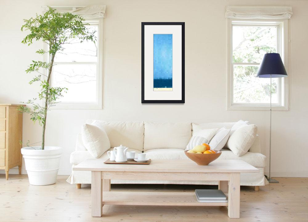 """Summer Beach Blue. Beach Abstract Art&quot  (2014) by MarkLawrence"
