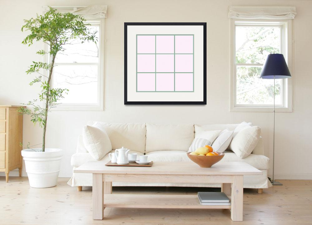 """Pink Window 183 Canvas Contemporary Modern&quot  (2010) by Ricardos"