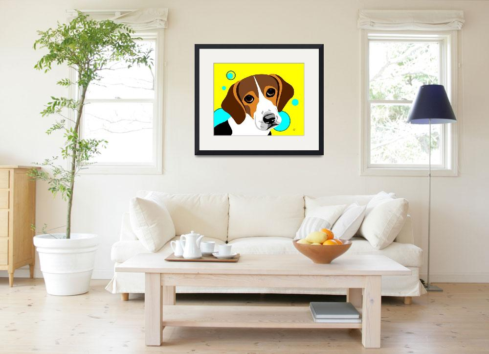 """Beagle&quot  by waterart"