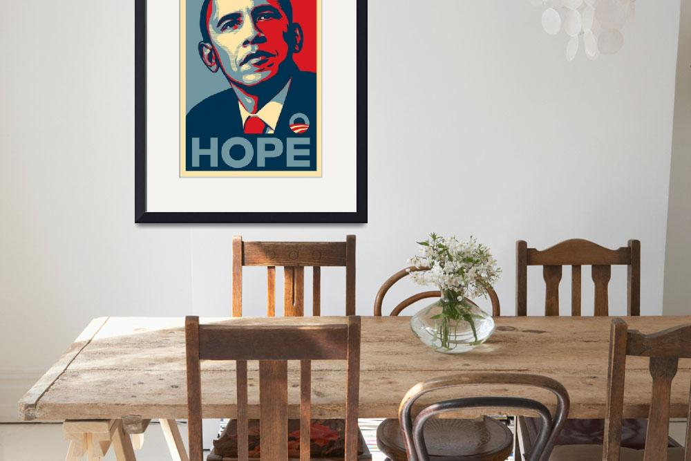 """Barack Obama Hope&quot  (2008) by paint"