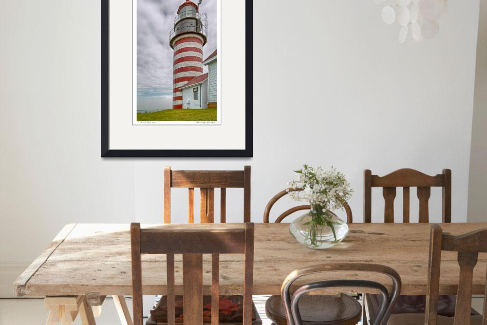 """West Quoddy Head Light&quot  (2008) by aknbean"