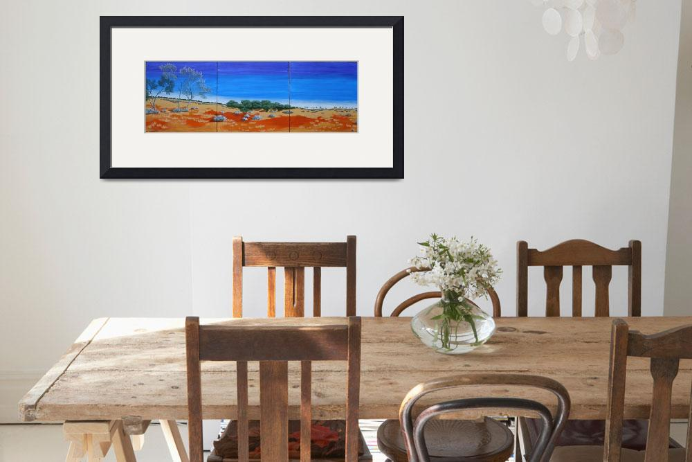 """OUTBACK VISTA TRIPTYCH (AUSTRALIA)&quot  by RoseLangfordPrints"
