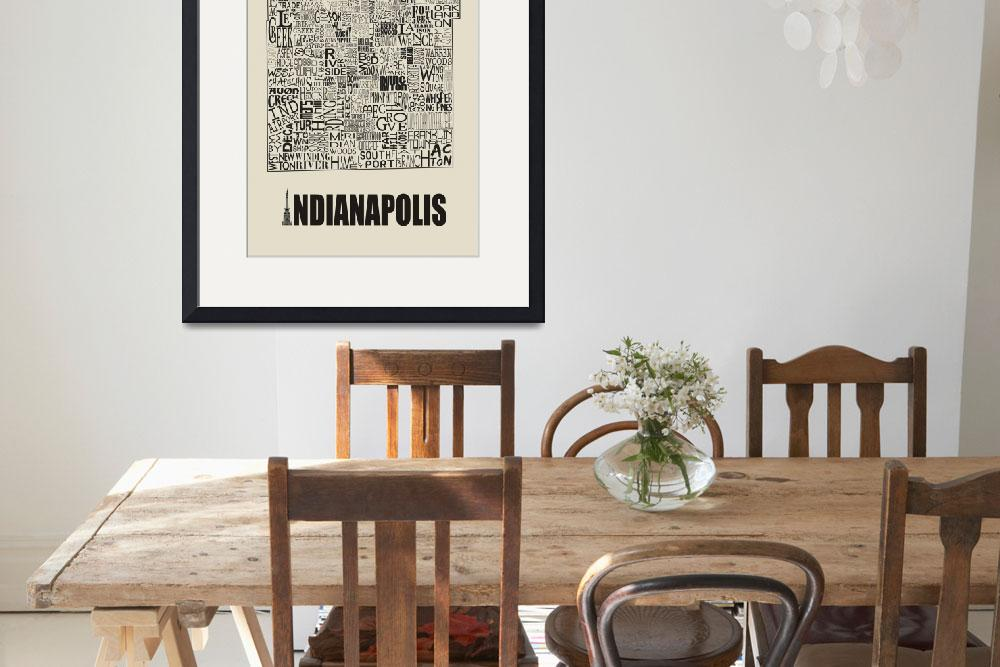 """Indianapolis Neighborhoods - Poster 6&quot  by RossPhotoWorks"