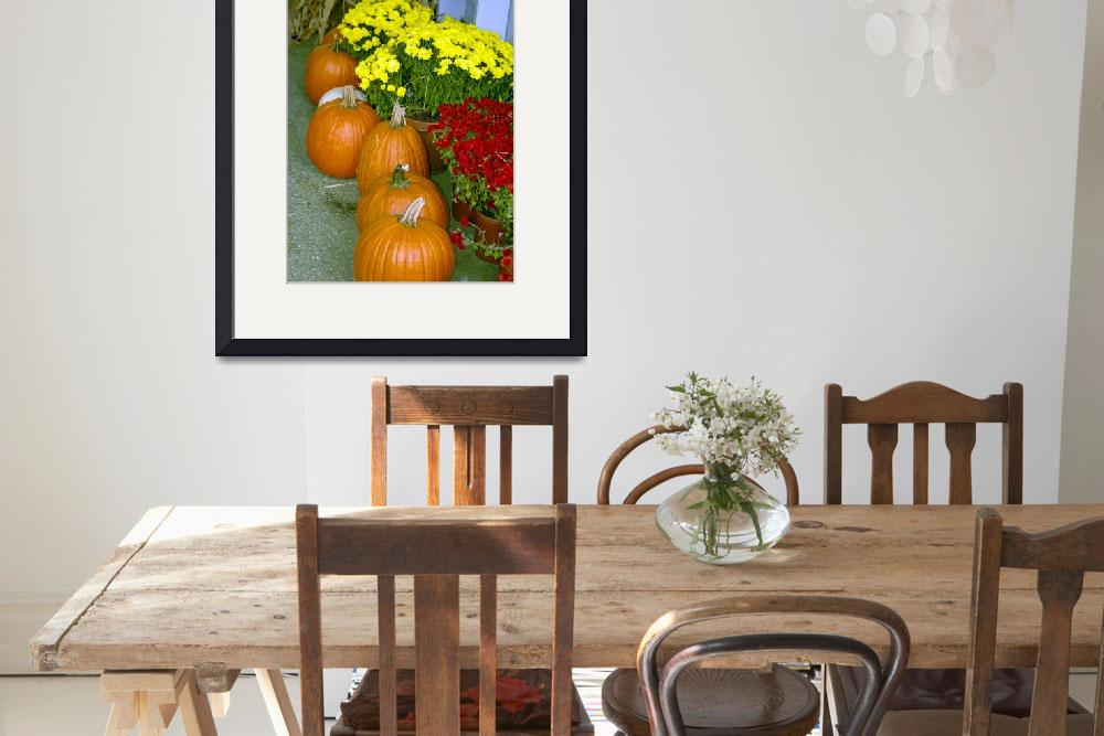 """Fall Pumpkins and Chrysanthamums 8955&quot  by CooperSlay"