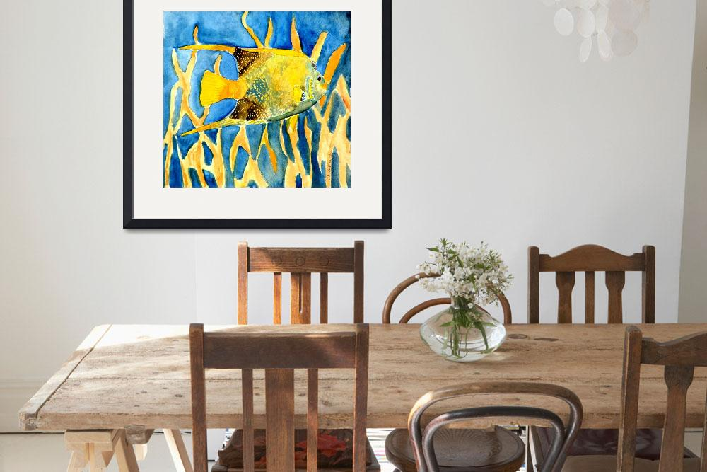 """tropical sealife fish painting print&quot  (2010) by derekmccrea"