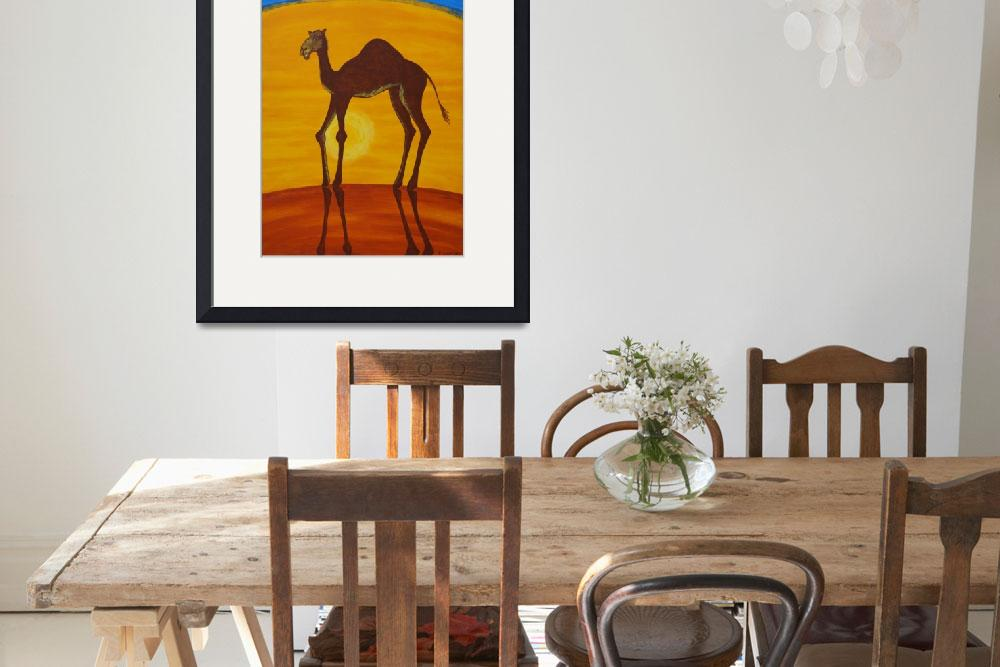 """BEAUTIFUL CAMEL (Outback Australia)&quot  (2007) by RoseLangfordPrints"